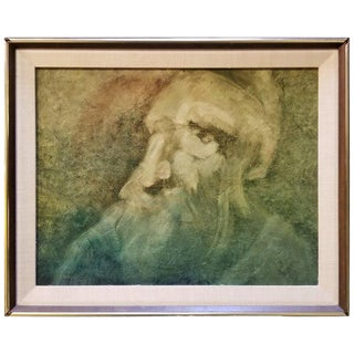 Abstract Figurative Painting by Francis L. Woodahl For Sale