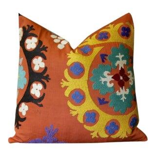 Rani Suzani Square Pillow For Sale