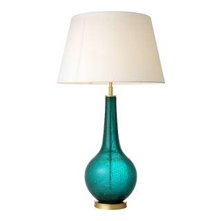 Turquoise Glass Table Lamp   Eichholtz Massaro For Sale