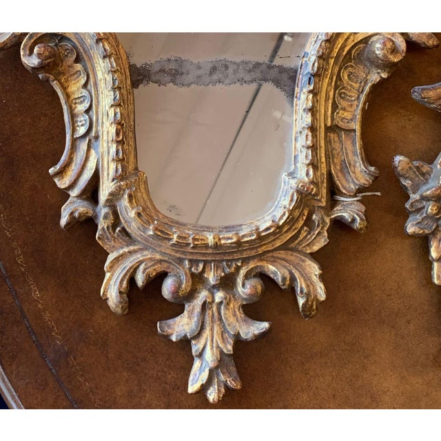 20th Century Italian Rococo Accent Mirrors - a Pair For Sale In Tampa - Image 6 of 13