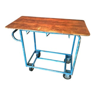 Mid 20th Century Vintage Industrial Two-Tiered Wheeled Cart
