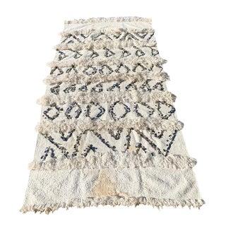 Vintage Moroccan Handira Throw For Sale