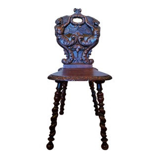 19th Century Victorian Renaissance Revival Hall Chair For Sale