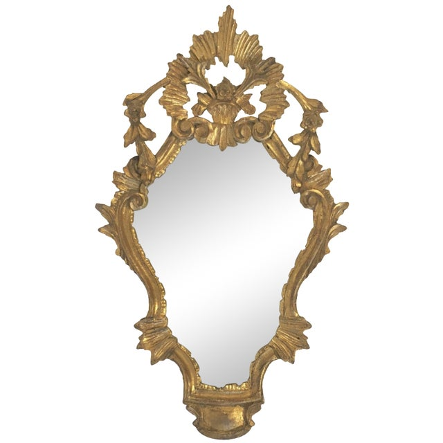Antique Italian Hand-Carved Gilt Wood Mirror - Image 1 of 10