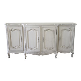 Antique Painted Louis XV Style French Provincial Style Server For Sale
