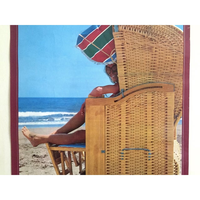 Mid-Century Modern Espana Canary Islands Rare Mid Century Vintage 1960's Collector's Spain Travel Poster For Sale - Image 3 of 13