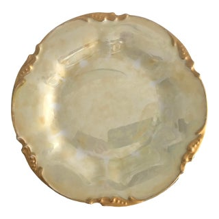 Early 20th Century Limoges Jean Pouyat Porcelain Plate For Sale