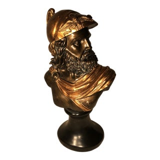 """""""Ajax The Great"""" Bronze and Black Bust Statue For Sale"""