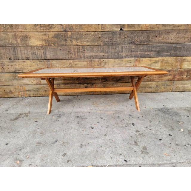 1980s Vintage Tile Top Coffee Table For Sale - Image 13 of 13