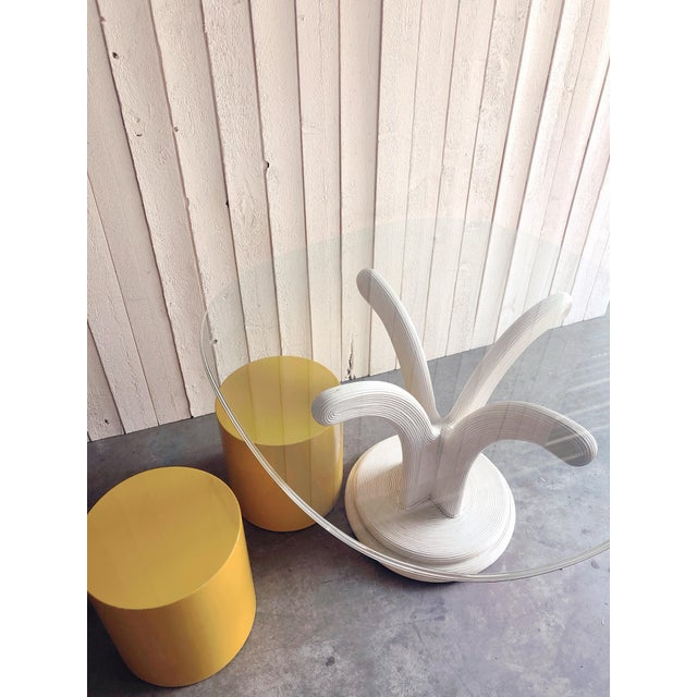 1970s Pencil Reed Dining Table Base in the Style of Gabriella Crespi For Sale - Image 5 of 7