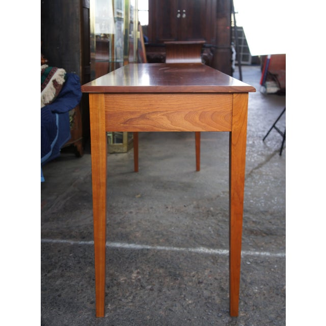 Vintage Harden Solid Cherry Burnished Shaker Style Console Table