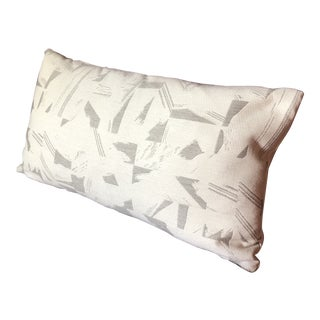 Contemporary Custom Romo Fabric Lumbar Pillow For Sale