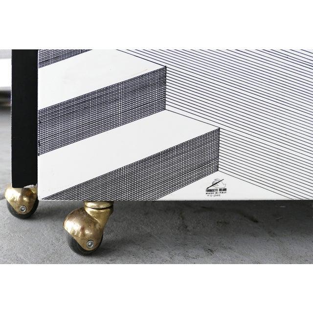 "Mid-Century Modern Piero Fornasetti for Fornasetti-Milano, ""Scaletta"" Folding Screen, Signed 2001 For Sale - Image 3 of 13"