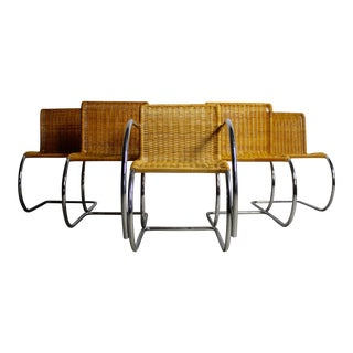 Ludwig Mies Van Der Rohe MR10 Chairs - Set of 5 For Sale