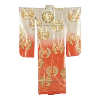 Japanese Ceremonial Kimono Framed in a Lucite Box For Sale