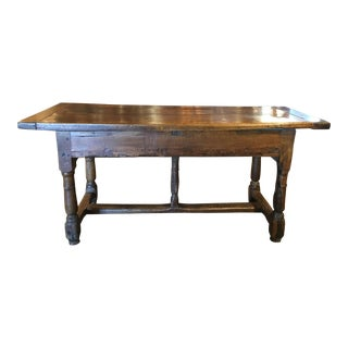 Antique French Fruitwood Farm Table