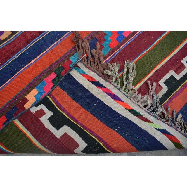 Vintage Turkish Handwoven Kilim Runner Rug - 3′4″ × 10′ For Sale - Image 4 of 5