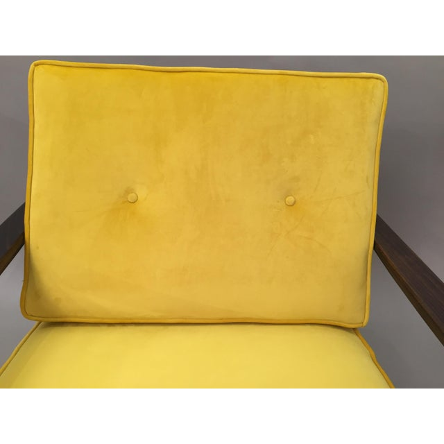 Mid-Century Modern Restored Arm Chair Velvet Cushions - Image 3 of 11