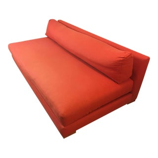 Cb2 Orange Upholstered Piazza Sofa