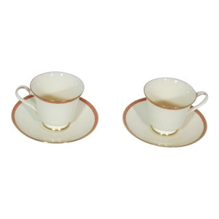 1970s Minton Carlton Pattern Cup & Saucer - Service for 2 For Sale