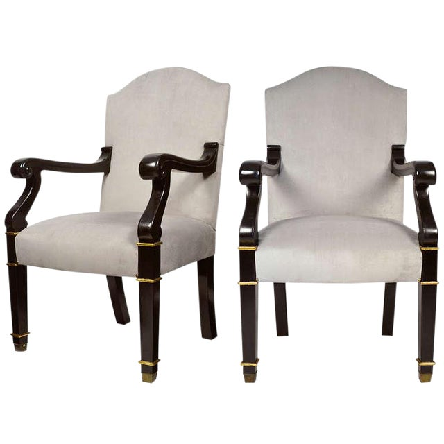 Pair of French Restoration Armchairs For Sale