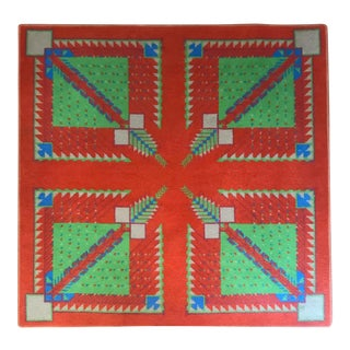 1980s Arizona Biltmore Hotel Rug by Frank Lloyd Wright For Sale