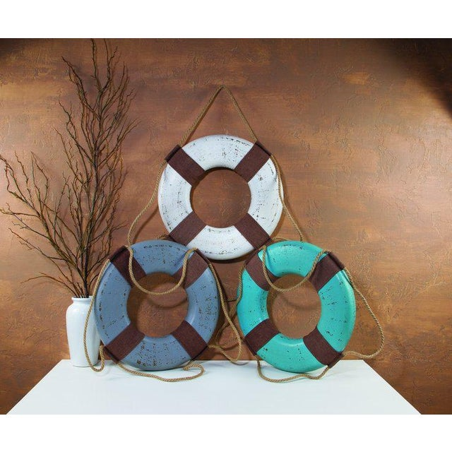Vintage Life Rings & Weathered Nautical Wall Decor - Image 7 of 9