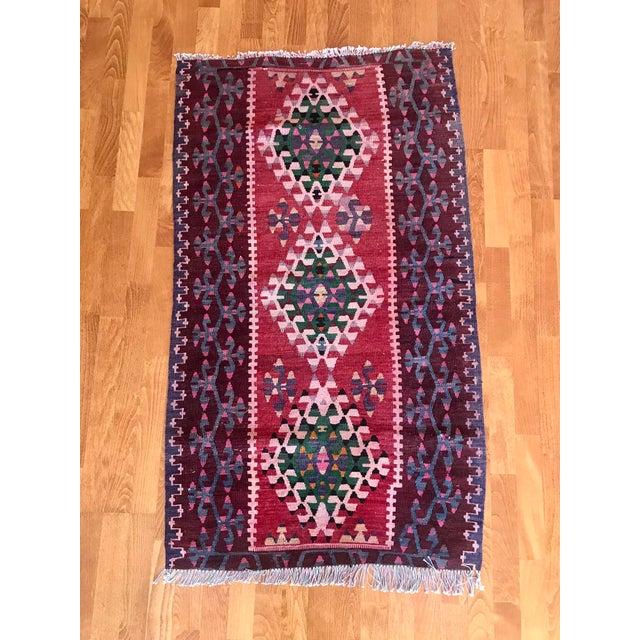 "Turkish Anatolian natural dye Rug. ORIGIN : Region of Antalya (TURKEY) MATERIAL : 100% hand spun organic wool SİZE : 2'.7""..."