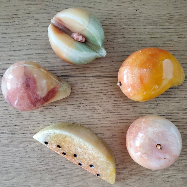 Italian Marble Fruit, 5 Piece For Sale In Dallas - Image 6 of 6