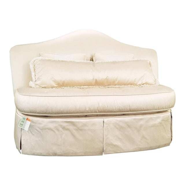 Modern Century Furniture Signature Upholstery Settee For Sale