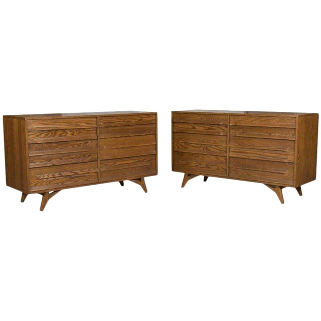 Two Mid-Century Modern Dressers by Jack Van der Molen For Sale