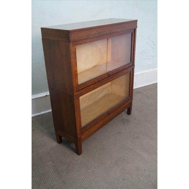 Globe Wernicke Antique Oak Two Section Bookcase - Image 3 of 10