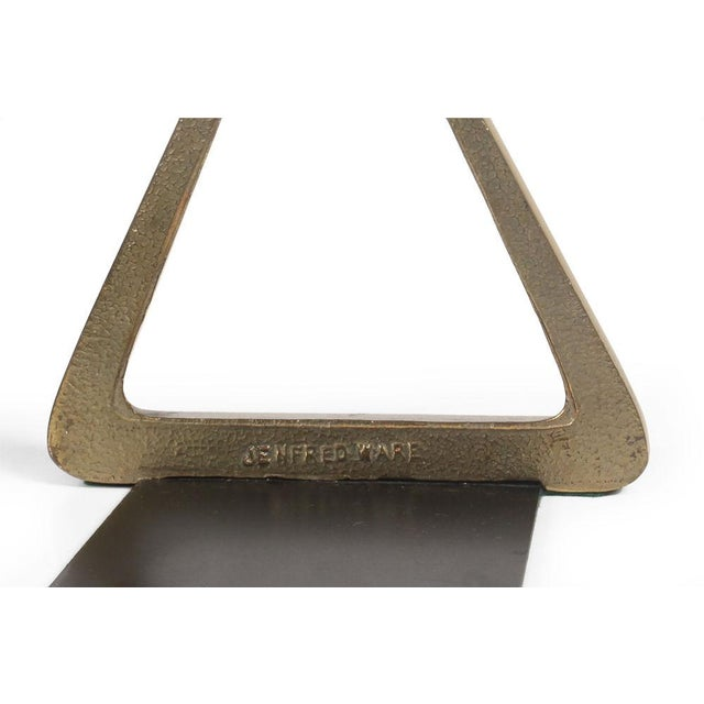 Bronze Triangle Bookends by Ben Seibel - Image 6 of 7