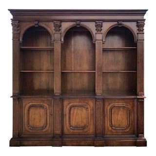 Henredon Triple Arch Cherry Bookcase For Sale