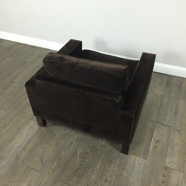 Room & Board Brown Suede Club Chair - Image 10 of 11