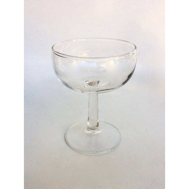 Mid-Century Modern Vintage Glass Champagne Coupes - Set of 8 For Sale - Image 3 of 5