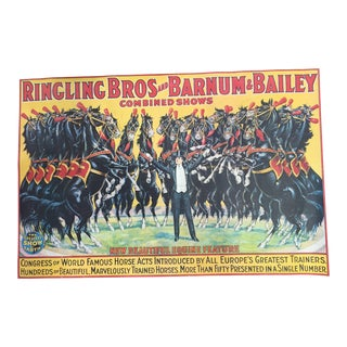 1960s Ringling Bros and Barnum & Bailey Circus Poster For Sale