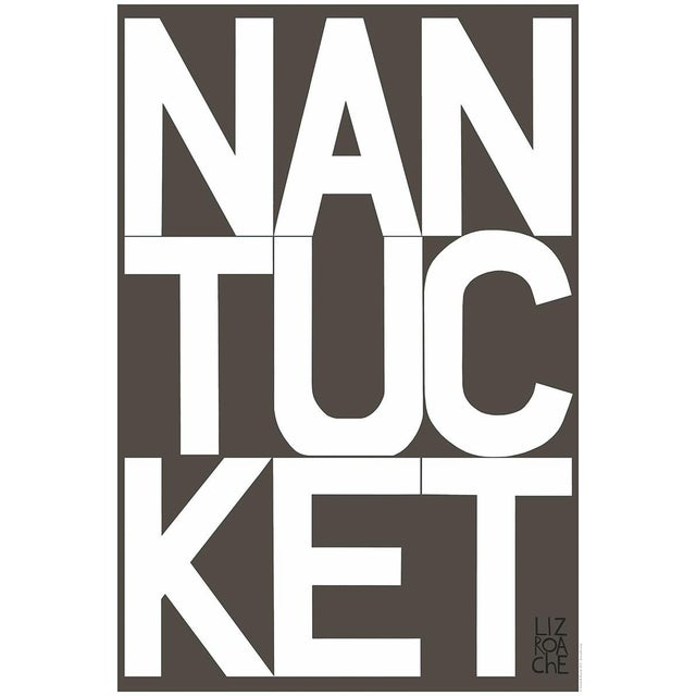 Nantucket Graphic Charcoal Fine Art Print by Liz Roache For Sale