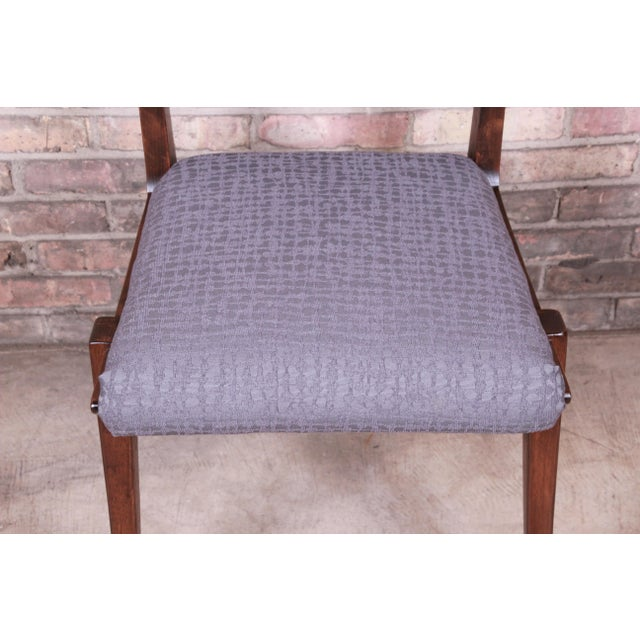 Brown John Van Koert Mid-Century Modern Restored Walnut Dining Chairs, Set of Ten For Sale - Image 8 of 13