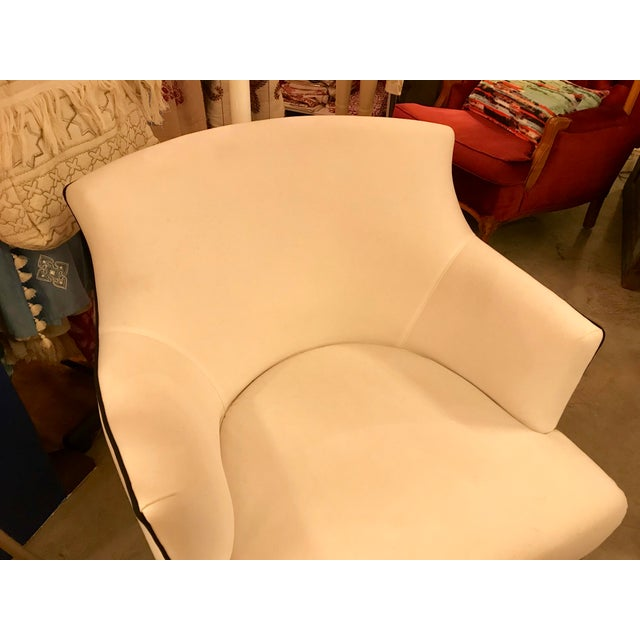 This is a great custom-made armchair, with beautiful classic modern style. The seamless arms and back have a very clean...