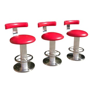 Designs for Leisure Bar Stools, Set of 3 For Sale