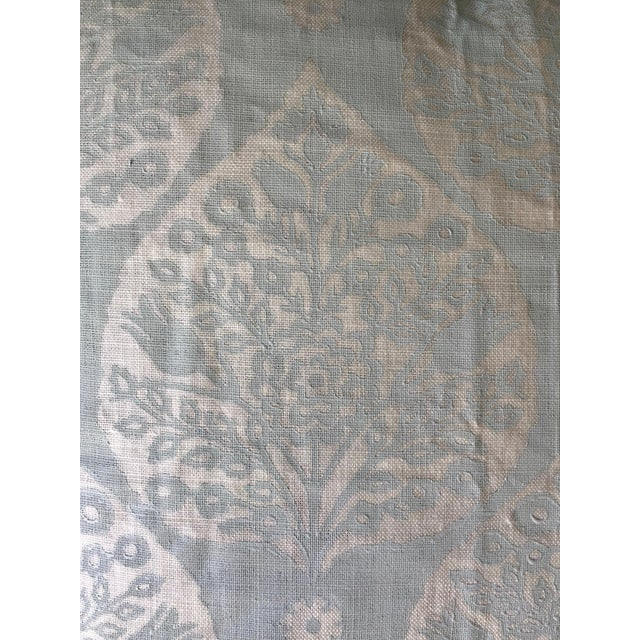 """Professionally sewn, brand new, unused custom 22x22 pillow cover in Galbraith & Paul's """"Little Lotus"""" in Wave color way on..."""