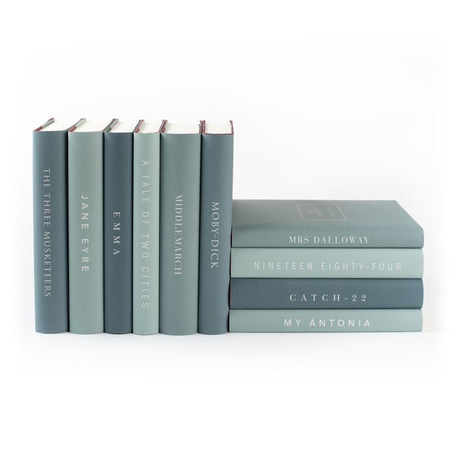 The Modern Classics Book Collection - Set of 10 in Greens For Sale - Image 4 of 7
