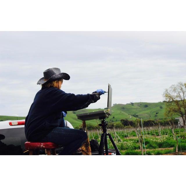 Original Oil Painting Landscape Plein Air, Sonoma Vines For Sale - Image 12 of 12