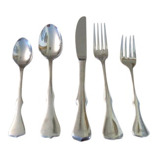 Stanley Roberts Mid-Century Modern Alberta Pattern Service for 13+ - 80 Pieces Incl 4 Steak Knives & Lge Serving Spoon For Sale