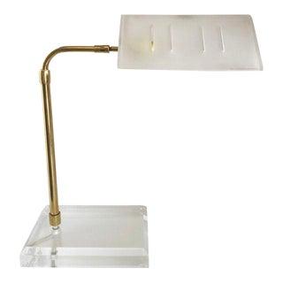 Bauer Lucite & Brass Desk Lamp