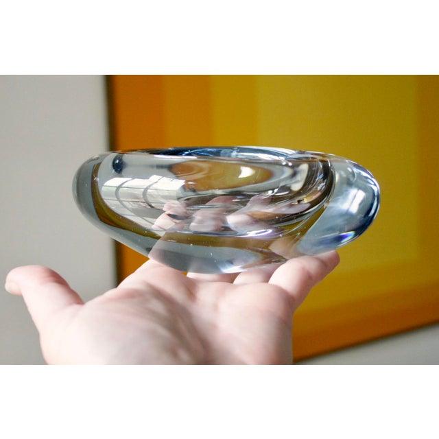 Per Lutken Holmegaard Holmegaard Light Blue Danish Modern Glass Dish by Per Lutken For Sale - Image 4 of 11