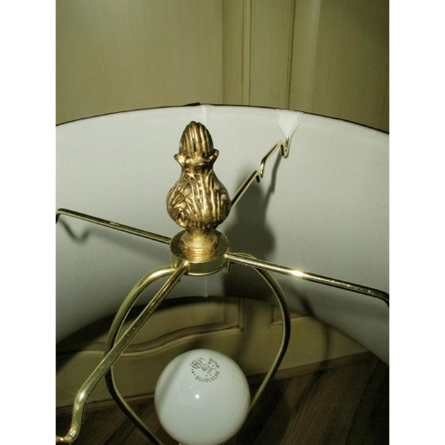 Bronze French Lamps with Silk Shades - A Pair - Image 9 of 10