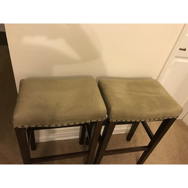 Pottery Barn Manchester Backless Barstools- A Pair - Image 3 of 4
