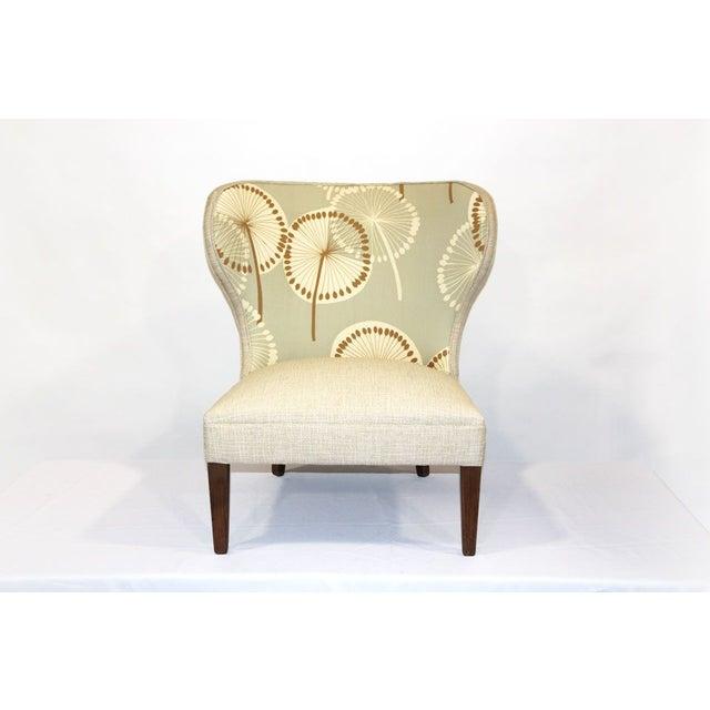 Antique Slipper Chair in Dandelion Upholstery - Image 2 of 4